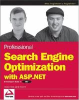 Professional Search Engine Optimization With ASP.net