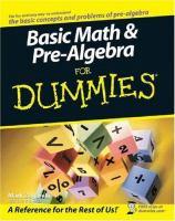 Basic Math & Pre-algebra for Dummies