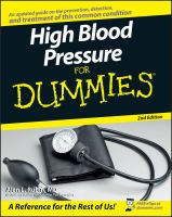 High Blood Pressure for Dummies