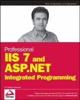 Professional IIS 7 and ASP.NET 2.0 Integrated Programming