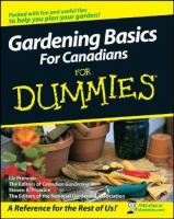 Gardening Basics for Canadians for Dummies
