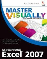Master Visually Excel 2007
