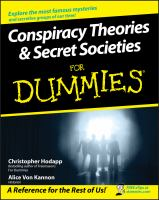 Conspiracy Theories & Secret Societies for Dummies