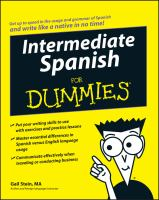 Intermediate Spanish for Dummies