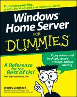 Windows Home Server for Dummies