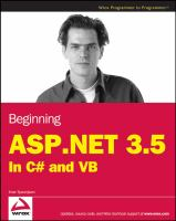 Beginning ASP.NET 3.5 in C# and VB