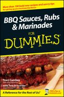 BBQ Sauces, Rubs & Marinades for Dummies