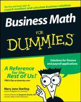 Business Math for Dummies