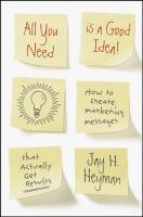 All You Need Is A Good Idea!