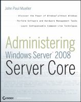 Administering Windows Server 2008 Server Core
