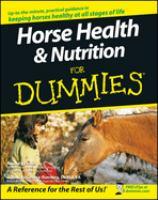 Horse Health & Nutrition for Dummies