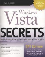 Windows Vista Secrets, SP1 Edition