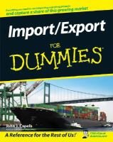Import/export for Dummies