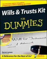 Wills & Trusts Kit for Dummies