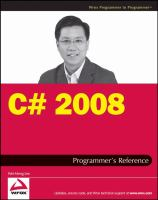 C♯ 2008 Programmer's Reference