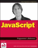 JavaScript® Programmer's Reference