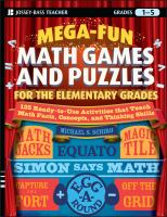 Mega-fun Math Games and Puzzles for the Elementary Grades