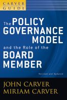 The Policy Governance Model and the Role of the Board Member