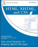 Html, Xhtml, and Css : Your Visual Blueprint for Designing Effective Web Pages