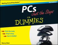 PCs Just the Steps for Dummies, Second Edition