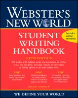 Webster's New World Student Writing Handbook