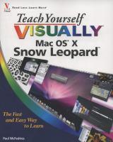 Teach Yourself Visually Mac OS X Snow Leopard