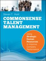 Commonsense Talent Management