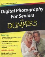 Digital Photography for Seniors for Dummies
