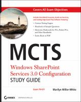 MCTS Windows SharePoint Services 3.0 Configuration Study Guide (70-631)