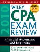 Wiley CPA Exam Review 2010
