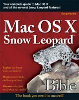 Mac OS X Snow Leopard Bible