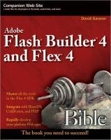 Flash Builder 4 and Flex 4 Bible