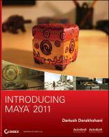 Introducing Maya 2011