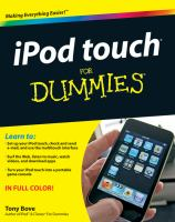 IPod Touch for Dummies