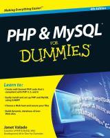 PHP & MySQL for Dummies