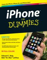 IPhone for Dummies, 3rd Edition