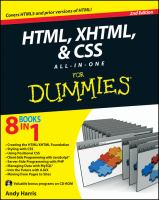 HTML, XHTML, and CSS All-in-one for Dummies