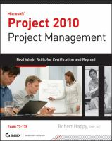 Microsoft Project 2010 Project Management