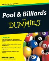 Pool & Billiards for Dummies