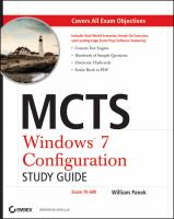 MCTS Microsoft Windows 7 Configuration Study Guide (Exam 70-680)