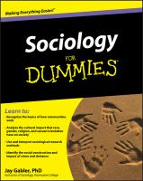 Sociology for Dummies