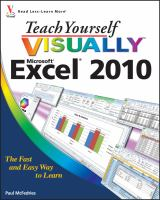 Teach Yourself Visually Excel 2010
