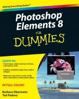Photoshop Elements 8 for Dummies