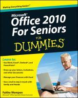 Microsoft Office 2010 for Seniors for Dummies
