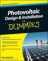 Photovoltaic Design & Installation for Dummies