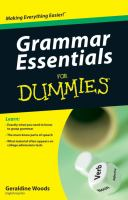 Grammar Essentials for Dummies