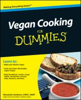 Vegan Cooking for Dummies
