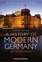 A History of Modern Germany, 1800 to the Present
