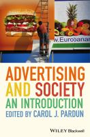Advertising and Society