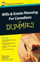 Wills & Estate Planning for Canadians for Dummies